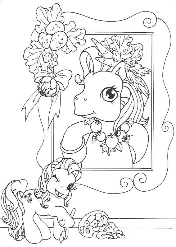 Раскраска для детей Мой маленький пони .