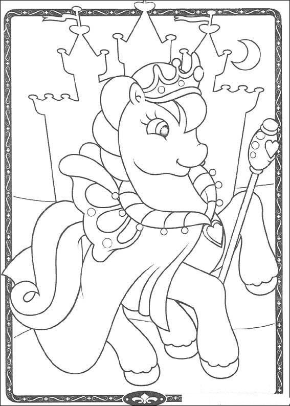 Раскраска понивиль пони