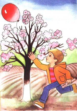"""Раскраска """"Весна пришла"""""""