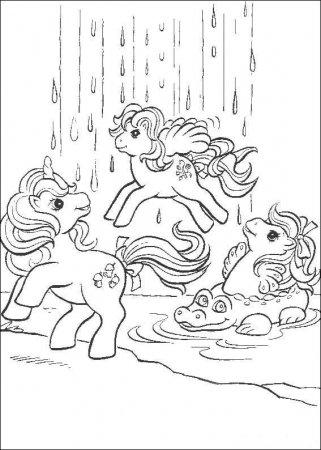 """Раскраска """"Мой маленький пони"""""""