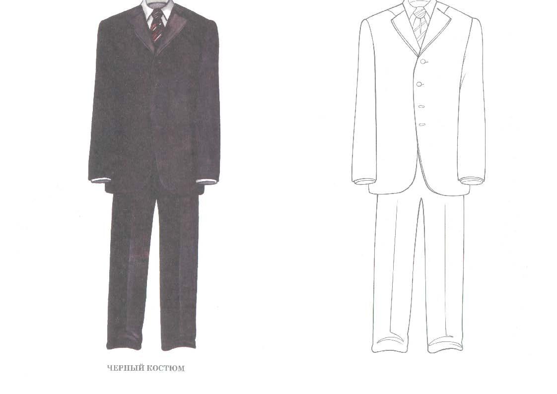 Раскраска костюма 4