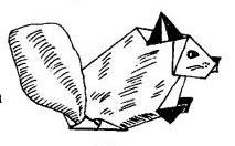Белка оригами