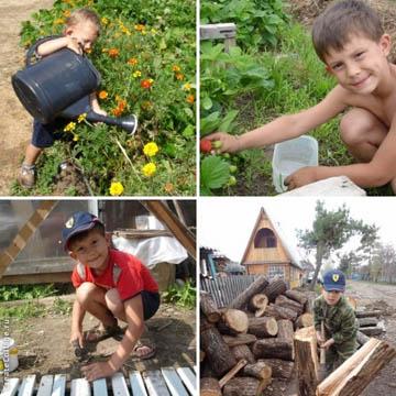 Как приучить к труду ребенка на даче?